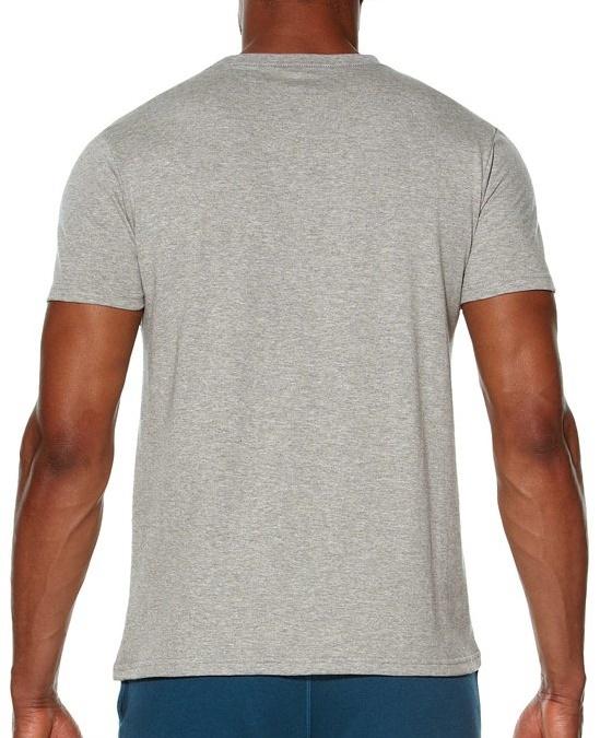Мужская спортивная футболка Asics Graphic SS Top (131530 0714) серая фото