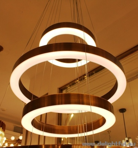 replica Henge 3  light ring  chandelier ( 40 + 60 + 50cm )