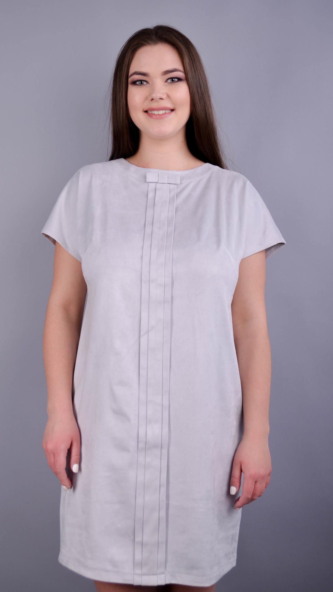 Варвара. Вишукана сукня для жінок плюс сайз. Сірий.