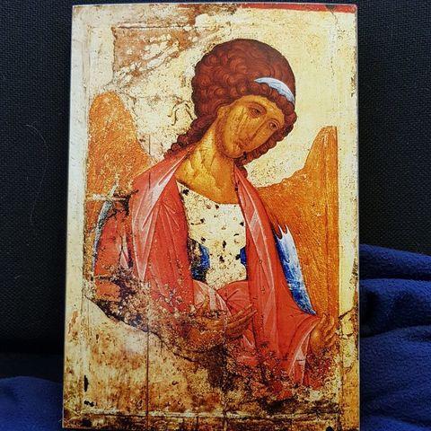 Икона Архангел Михаил Андрея Рублева на дереве на левкасе