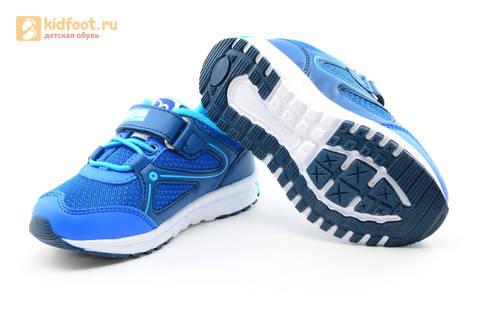 Светящиеся кроссовки для мальчиков Фиксики на липучках, цвет синий, мигает картинка сбоку. Изображение 9 из 15.