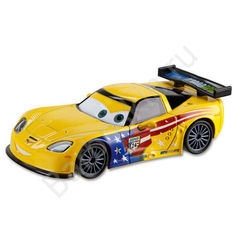 Машинка Джеф Корвет (Jeff Gorvette) Литая - Die Cast Car, Тачки 2 (Cars 2), Disney