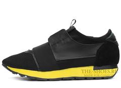 Кроссовки Мужские Balenciaga Race Runner Black Yellow