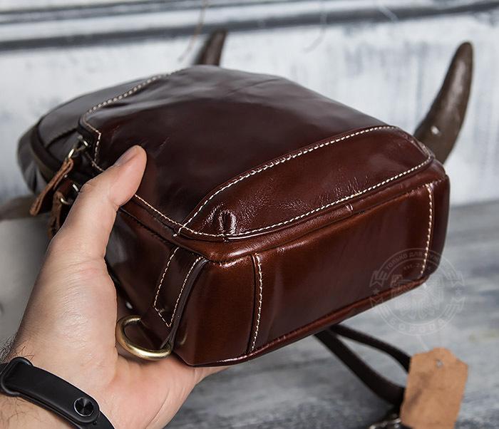 BAG421-2 Мужская сумка из шикарной кожи с одной лямкой фото 10