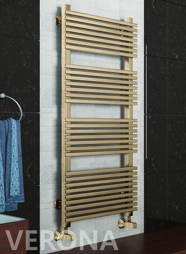 Verona Bronze -  бронзовый дизайн полотенцесушитель с квадратным профилем