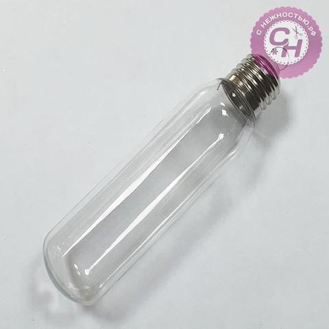 Лампочка удлиненная прозрачная, пластиковая, 15*4 см, 1 шт.