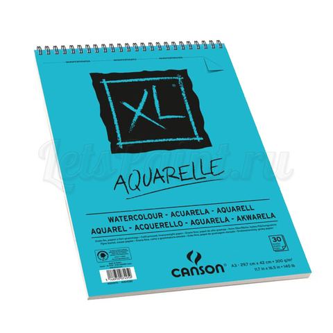 Альбом для акварели Canson XL Aquarelle А3 300 г/м2 30 листов