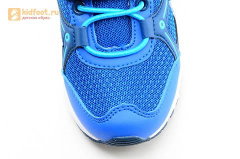 Светящиеся кроссовки для мальчиков Фиксики на липучках, цвет синий, мигает картинка сбоку. Изображение 11 из 15.