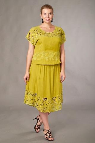 Платье Фанта цвет лимон