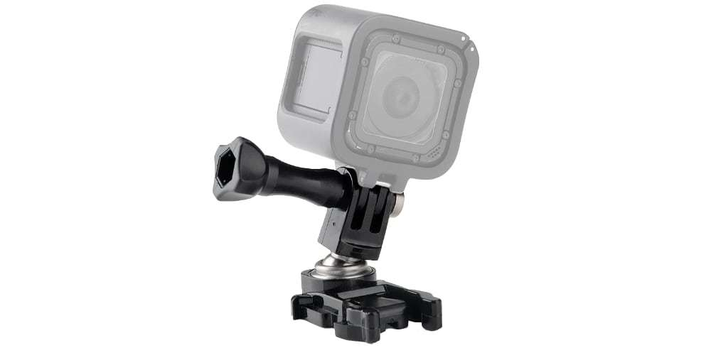 Шарнирное крепление GoPro Ball Joint Buckle (ABJQR-001) с камерой Session