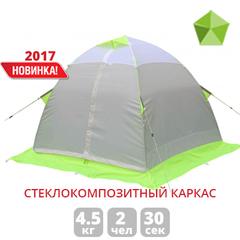 Зимняя палатка ЛОТОС 2С на стеклокомпозитном каркасе (ОРАНЖЕВАЯ)