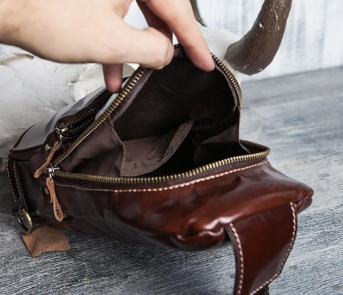 BAG421-2 Мужская сумка из шикарной кожи с одной лямкой фото 13
