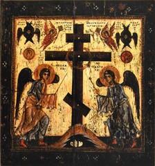 Прославление Креста (Поклонение Кресту). Икона на дереве.