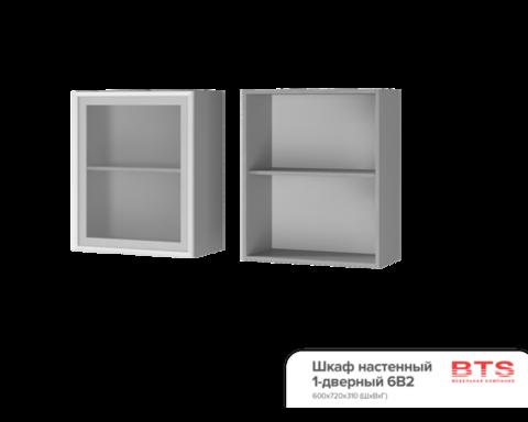 Шкаф настенный  1-дверный со стеклом (600*720*310) 6В2