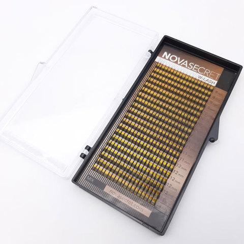 """Ресницы для наращивания NOVASEСRET ultimate черные, 3-D (w-тип), изгиб """"C mix"""""""