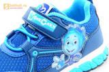 Светящиеся кроссовки для мальчиков Фиксики на липучках, цвет синий, мигает картинка сбоку. Изображение 13 из 15.