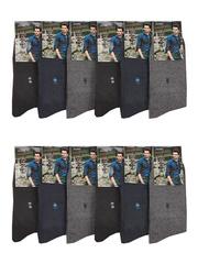 F503-10 носки мужские 40-47 (12шт), цветные