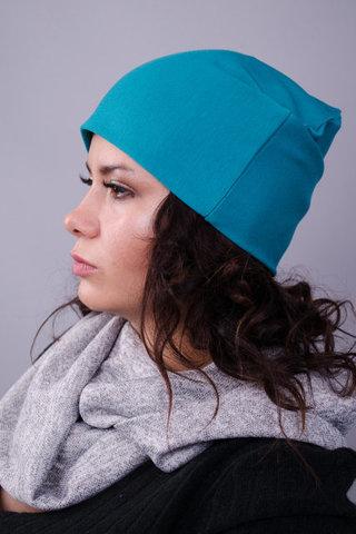 Фэшн. Молодёжные женские шапки. Аквамарин.