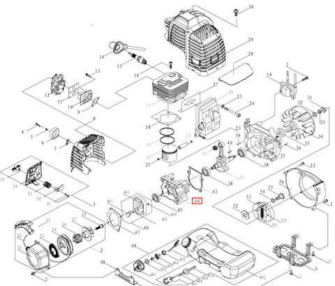 Картер правый для лодочного мотора T3,5 Sea-PRO