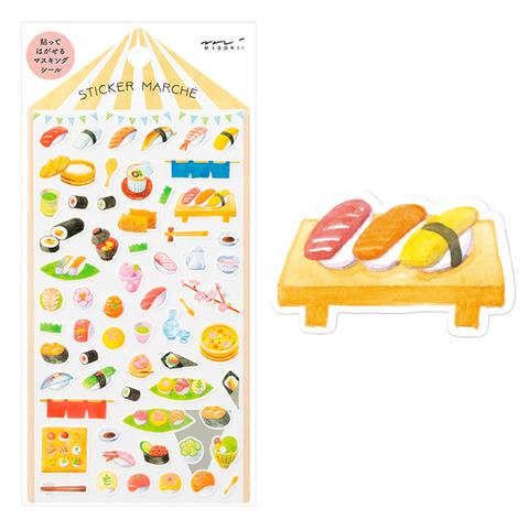 Стикеры Midori Sticker Marché - Sushi-gara