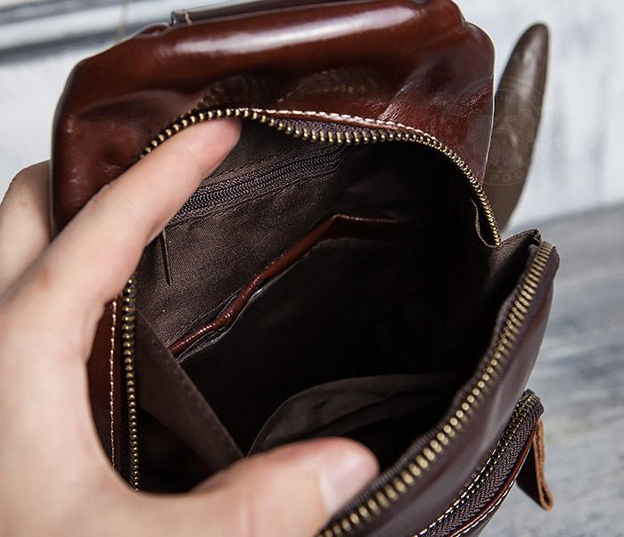 BAG421-2 Мужская сумка из шикарной кожи с одной лямкой фото 15