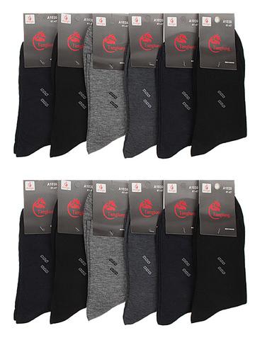 A1030 носки мужские 41-47 (12 шт.) цветные