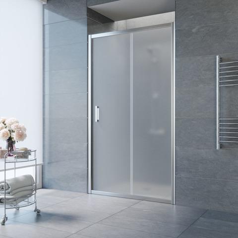 Душевая дверь в нишу Vegas Glass ZP профиль глянцевый хром, стекло сатин