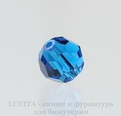 5000 Бусина - шарик с огранкой Сваровски Capri Blue 8 мм