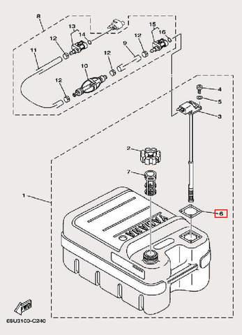 Прокладка для лодочного мотора F9,9 Sea-PRO (27-6)