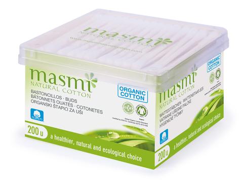 MASMI Гигиенические палочки из органического хлопка,  200 шт