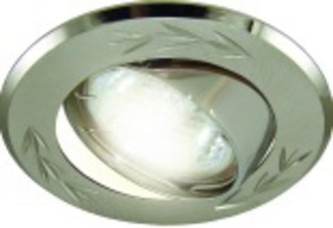 Светильник встраиваемый поворотный СВ 02-01 MR16 50Вт G5.3 матовый никель/никель TDM