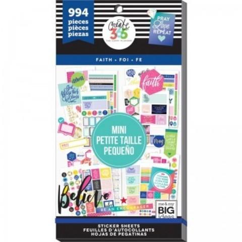 Блокнот со стикерами для ежедневника Create 365 Happy Planner Sticker Value Pack- Faith  994шт