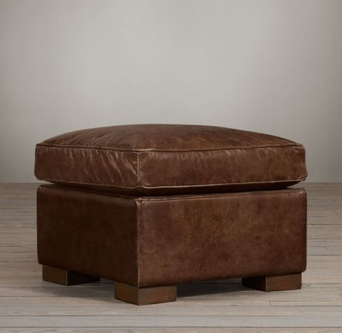 Collins Leather Ottoman