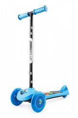 Детский самокат трёхколёсный (синий) - светящиеся колёса