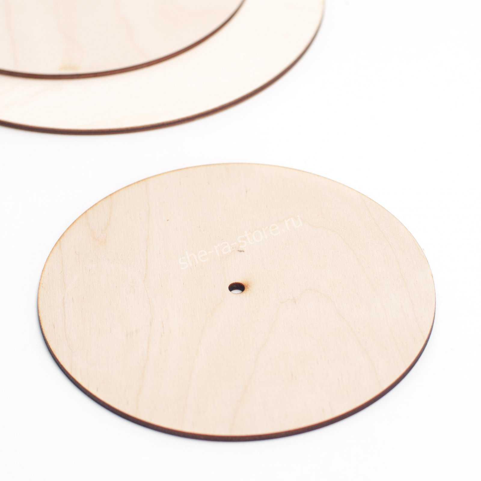 Подложка усиленная с отверстием для оси, диаметр 20см.