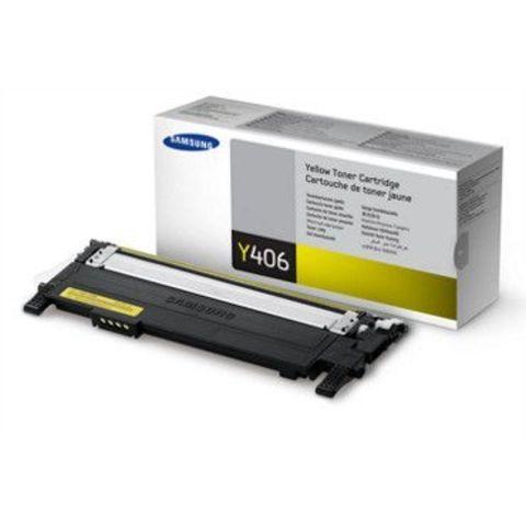 Картридж Samsung CLT-Y406S для Samsung CLP-360, CLP-365, CLP-365W, CLX-3300 тонер-картридж желтый. Ресурс 1000 копий.