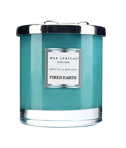 Свеча ароматическая в стекле Зеленый чай и бергамот большая, Wax Lyrical