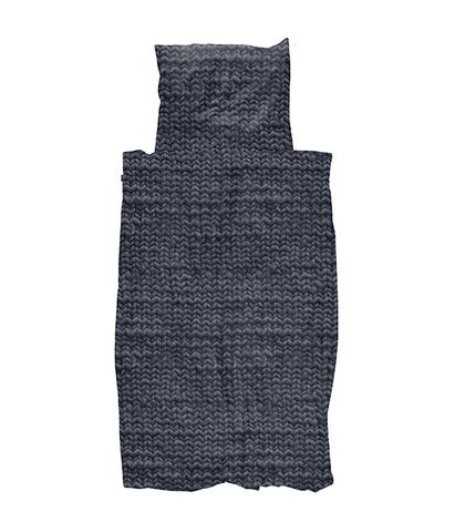 Комплект постельного белья Косичка угольно-черный 150x200см, Snurk