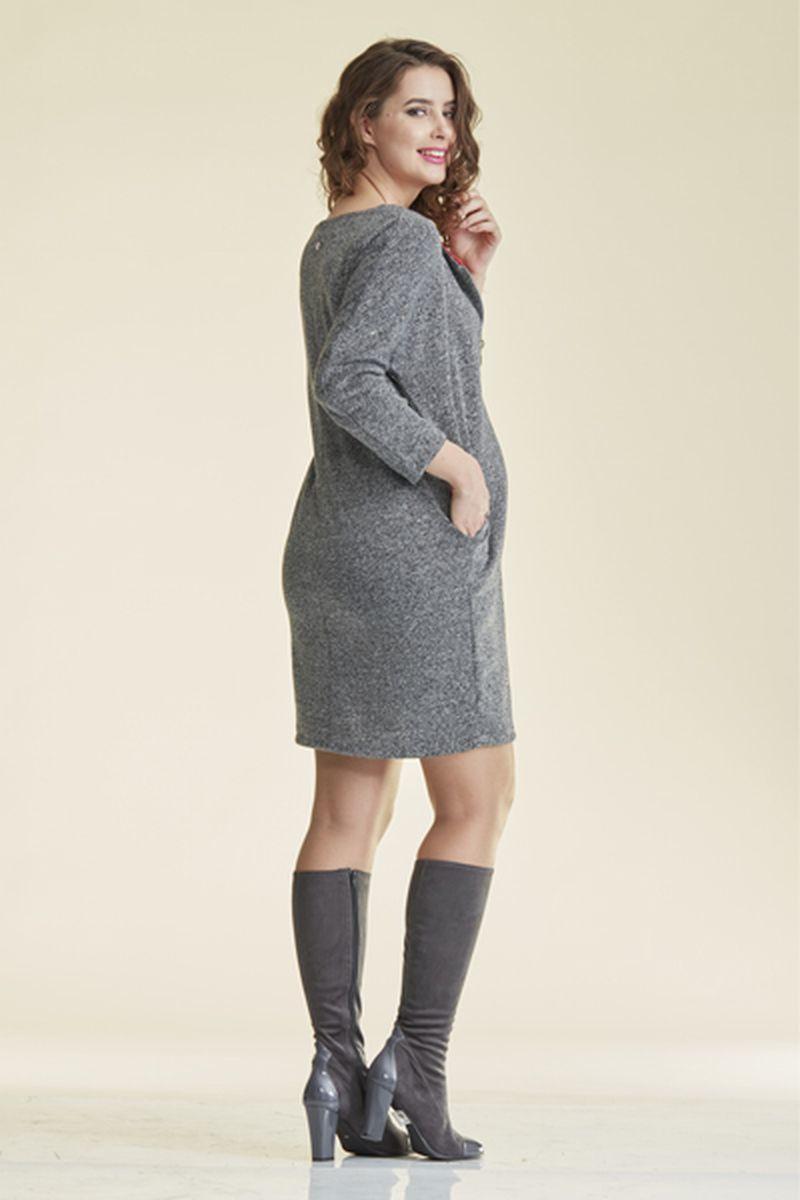 Платье 08689 серый