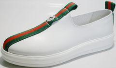 Кожаные спортивные туфли New Malange M970 white.