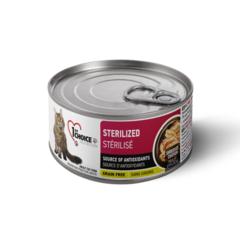Консервы для взрослых стерилизованных и кастрированных котов и кошек, 1st Choice Sterilized, с курицей и сардинами