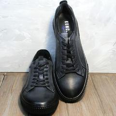 Осенние мужские туфли кеды Komcero 9K9154-734 Black-Grey