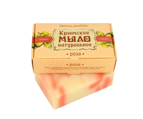 МДП Крымское натуральное мыло на оливковом масле РОЗА, 100г