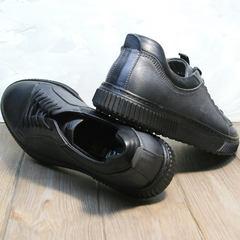 Осенние мужские туфли кроссовки Komcero 9K9154-734 Black-Grey