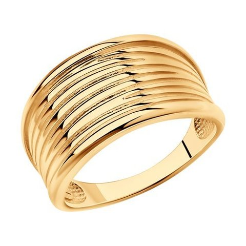 93010856 - Кольцо из золочёного серебра