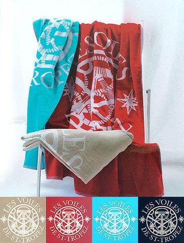 Полотенце пляжное 100х180 Mirabello Compas красное
