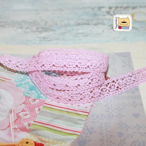 Кружево вязаное КХ5-СР (светло розовое) 90см