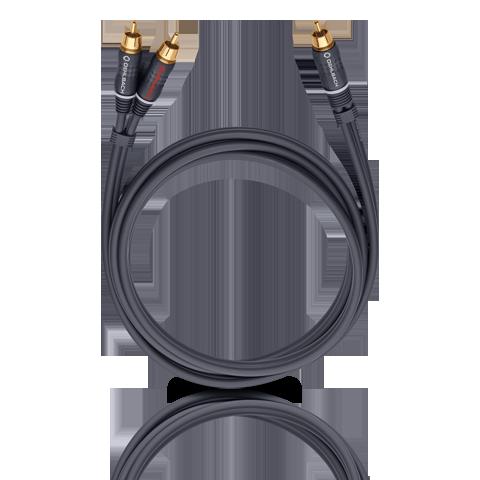 Oehlbach BOOOM! Y-adapter cable, anthracite 3.0m, кабель сабвуферный