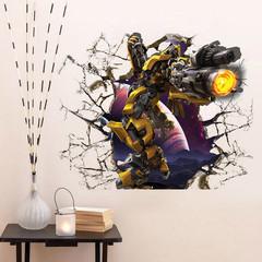 Трансформеры 3D наклейка робот Бамблби — Transformers Bumblebee