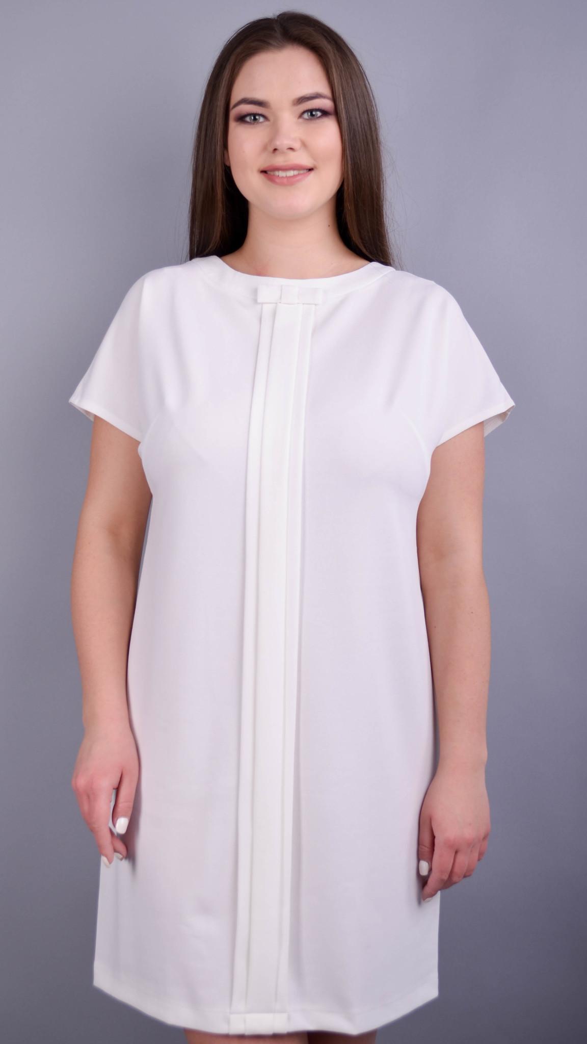 Варвара. Вишукана сукня для жінок плюс сайз. Молоко.